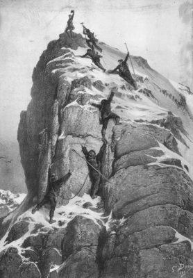 800px Matterhorn ascent Dore 278x400 - Istoria muntelui: Matterhorn