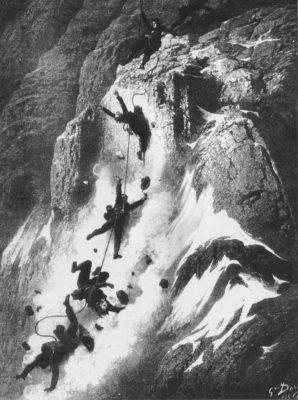 800px Matterhorn disaster Dore 298x400 - Istoria muntelui: Matterhorn